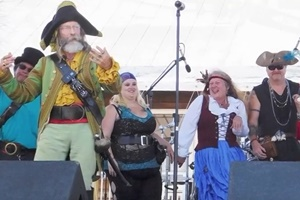 Pirates Give an Amelia Island History Lesson