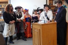 Pirates Receive Proclamation for 1st Fernandina Pirate Festival